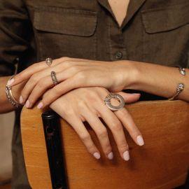 bague ajustable anneau grand modèle Desert dream - Ori Tao