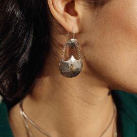 2 elements hook earrings Java - Ori Tao