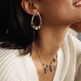 boucles d'oreilles anneau goutte Rokia - Ori Tao