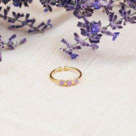 CONFETTIS 3 disc ring (lilac) - Olivolga Bijoux