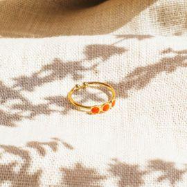CONFETTIS 3 disc ring (tangerine) - Olivolga Bijoux