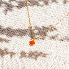 CONFETTIS short necklace (tangerine) - Olivolga Bijoux