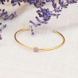 CONFETTIS cuff bracelet (lilac) - Olivolga Bijoux