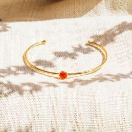 CONFETTIS cuff bracelet (tangerine) - Olivolga Bijoux