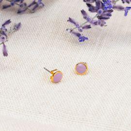 CONFETTIS enamel stud post ER (lilac) - Olivolga Bijoux