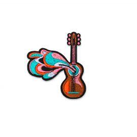 Ecusson Guitare power - Macon & Lesquoy