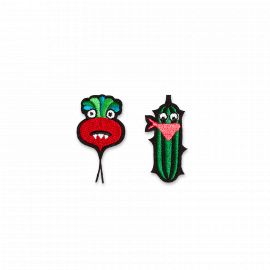 Iron-on patch cucumber & beet - Macon & Lesquoy