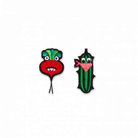 Iron-on patch cucumber & beet