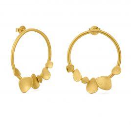 Boucles d'oreilles rondes dorées BRANCA - Joidart
