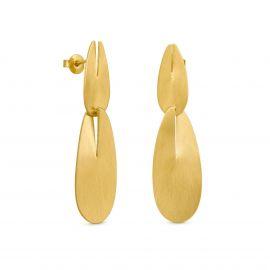 Boucles d'oreilles 2 éléments dorées EUPHORBIA - Joidart