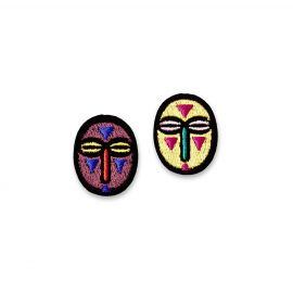 Iron-on patch small masks - Macon & Lesquoy