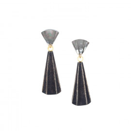 long earrings black lip top Andalousie - Nature Bijoux