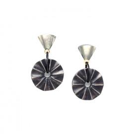 earrings wood and black lip Andalousie - Nature Bijoux