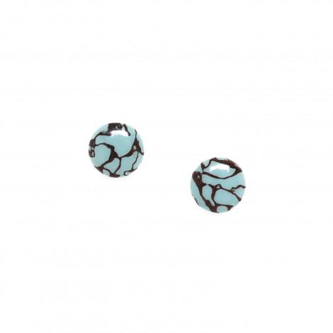 round clip earrings Bleu nuit