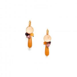 small earrings jasper and capiz top Gardenia - Nature Bijoux