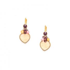 small earrings with capiz dangle Gardenia - Nature Bijoux
