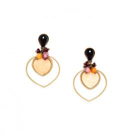 earrings brass and capiz Gardenia - Nature Bijoux