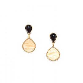 earrings golden capiz drop Gardenia - Nature Bijoux