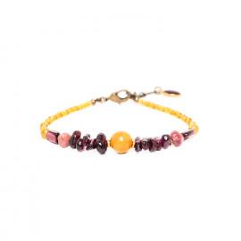 bracelet jasper and garnet Gardenia - Nature Bijoux
