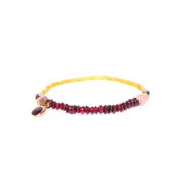 stretch bracelet with garnet jasper and rhodonite Gardenia - Nature Bijoux