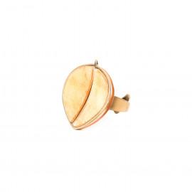 golden capiz ring Gardenia - Nature Bijoux