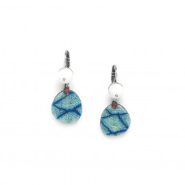 small earrings calcite bead top Les calanques - Nature Bijoux