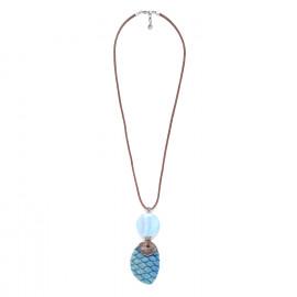 long necklace 2 elements chalcedony Les calanques - Nature Bijoux