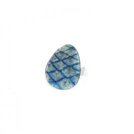 blue ring Les calanques - Nature Bijoux
