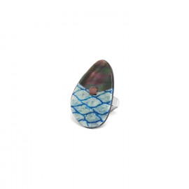 ring with black lip Les calanques - Nature Bijoux