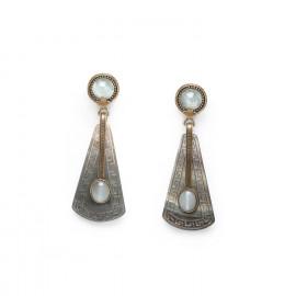 big earrings jade & blacklip Pachacuti - Nature Bijoux