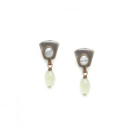 olive jade earrings Pachacuti - Nature Bijoux