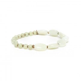 jade stretch bracelet Pachacuti - Nature Bijoux