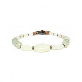 jade & blacklip stretch bracelet Pachacuti - Nature Bijoux