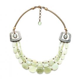 three row jade necklace Pachacuti - Nature Bijoux