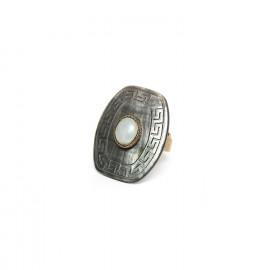 blacklip & jade ring Pachacuti - Nature Bijoux