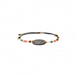 bracelet macramé Nacre noire Lennie - Franck Herval