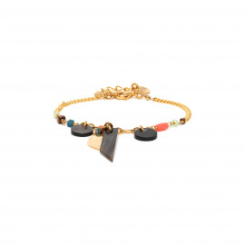 black lip dangle bracelet Lennie - Franck Herval