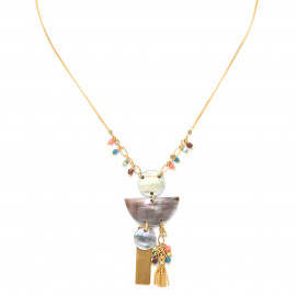 necklace with asymetric pendant Lennie - Franck Herval