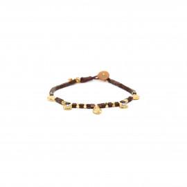 button stretch bracelet Vanille - Franck Herval