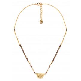 half disc necklace Vanille - Franck Herval