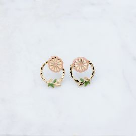 Small flower hoops PLAYFULL - Grizzly Chéri