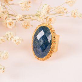 Bague pierre camée - Lapis lazuli- PALOMA - L'atelier des Dames