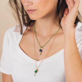 Long double necklace -CELINE - L'atelier des Dames