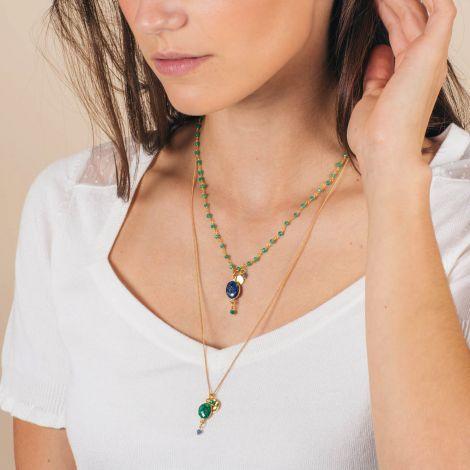 Long double necklace -CELINE