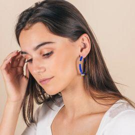 Assorted color surfer hoop earrings - MARGAUX - L'atelier des Dames