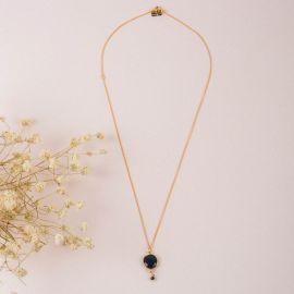 Collier pierre onyx noir- CATHY - L'atelier des Dames