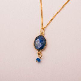 Collier pierre lapis lazuli- CATHY - L'atelier des Dames