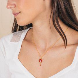 Natural stone necklace -CATHY - L'atelier des Dames