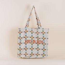 Cream Tote bag Jaal - tout va bien - Jamini