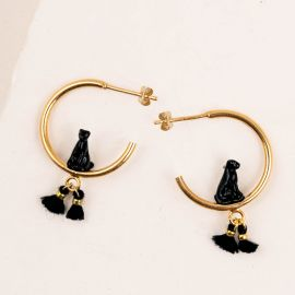 Black Panther Tribe earrings - 10Th anniversary - Nach